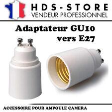 E27GU10 PROLONGATEUR ADAPTATEUR E27 VERS GU10 POUR AMPOULES CAMERAS OU STANDARDS