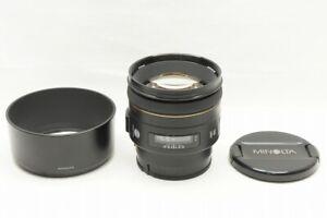 """""""EXCELLENT"""" Minolta AF 85mm F1.4 G Lens for Sony Minolta Alpha Mount #210725l"""