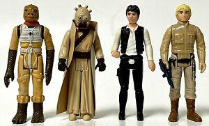 Vintage Star Wars 1977 & 1980 Action Figures Bossk Han Solo Tusken & Skywalker
