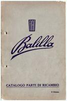 FIAT Balilla – CATALOGO PARTI DI RICAMBIO  ed. 1932 – Spare Parts!