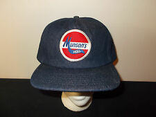 VTG-1980s Munsons Feed Heavy Denim Jean Workwear patch farming ag hat sku29