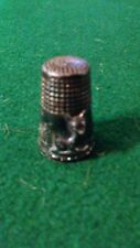 Vintage 925 Sterling Silver Baby Deer Fawn In A Woodland Setting Thimble