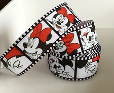 Yard Disney Minnie Mouse BOWS FILM bande de Gros-Grain Ruban Filles Personnage