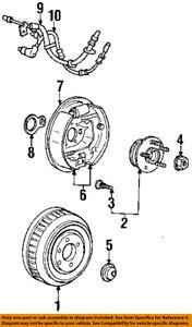 FORD OEM 95-03 Windstar Rear Brake-Hydraulic Flex Hose 3F2Z2282CB