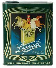 "Yacco LEGENDE Vintage Castor Oil ""Huile De Ricin"" French 2L Tin Can Peugeot 404"
