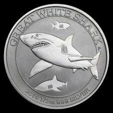 2014 1/2 oz .999 Silver Australian Great White Shark BU Coin from Mint Roll 3