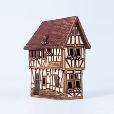 Ceramic house incense burner 'House in Bernkastel-Kues, Germany' 12 cm, © Midene