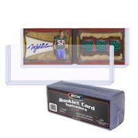 (10) BCW Booklet Card Toploader - Book Card Topload Holders 7 3/8 x 2 1/2 Case