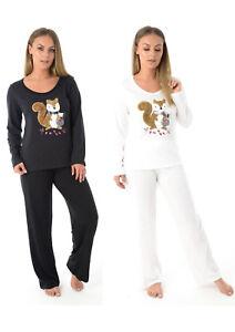 Womens Squirrel PYJAMA SET Lounge Wear Top Bottoms PJs Night Sleeping Plus Size