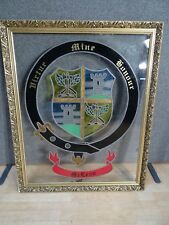 Unique leaded STAINED GLASS panel CREST COAT ARMS CLAN MCLEAN scottish heritage