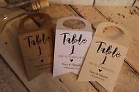 Personalised Wedding Wine Bottle Tag/Labels-Wedding favours Heart or flag shape