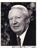 Edward Heath autograph hand signed photograph original politics Prime Minister