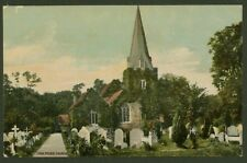 Stoke Poges Church - Early Printed Postcard by Charles Luff, Slough