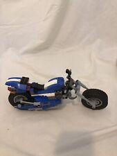 LEGO Blue Motorcycle Custom MOC I believe