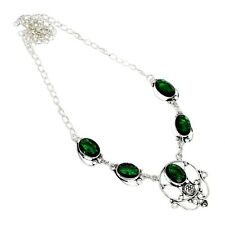 "Chrome Diopside Handmade Gemstone Jewelry Necklaces S 18""New Year Gift"