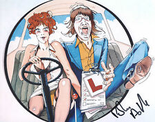 ROBIN ASKWITH Signed 10x8 Photo CONFESSIONS OF A DRIVING INSTRUCTOR COA