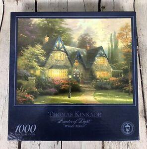 """NEW Thomas Kinkade 1000 Piece Jigsaw Puzzle Painter Of Light """"Winsor Manor"""""""
