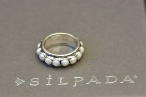 🌺 Silpada DESIGNS Sterling NESTLED PEARLS ring R2209 oxidized size 10