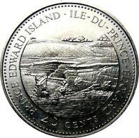 1992 Canada 125th PEI Prince Edward Island 25 Cents Gem BU UNC Quarter!!