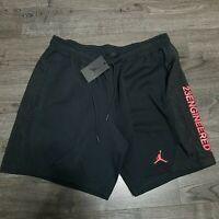 NIKE Air Jordan 23 Engineered Tech Shorts Mens LARGE Black Infrared Basketball