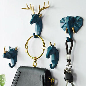 Coat Hook Wall Mounted Animal Décor Key Bag Cloths Jewelry Watch Tools Hanger