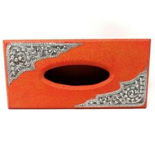 Vintage Rustic Western Tissue Box Cover - Tissue Box Holder         WY113