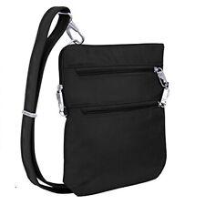 Travelon Anti-Theft Classic Slim Dbl Zip Crossbody Bag, Black