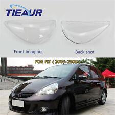 (Right+Left)Headlight Transparents Lens Cover For Honda FIT 2005 2006 2007 2008