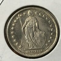 1912 SWITZERLAND SILVER ONE FRANC HIGH GRADE