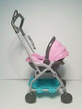 NEW! BARBIE BABYSITTERS MATTEL PINK STROLLER DIORAMA ACCESSORY DOLLHOUSE PLAY