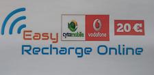 Cyprus Recharge Service - CY Cytamobile Vodafone So Easy PrePaid Credit €20 Euro