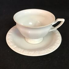 Rosenthal Maria White Footed Tea Cup and Saucer