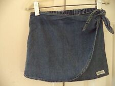 Must Have! Girls Baby Guess Denim Blue Jean Skirt w/ Tie Front Wrap Look 3 Yr 3T