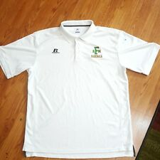 FAMU Florida A&M Rattlers Baseball Polo Shirt White Large Russell Athletic L FAM