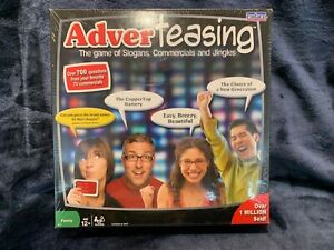 ADVERTEASING GAME 700 QUESTIONS FROM TV COMMERCIALS Brand NEW Sealed