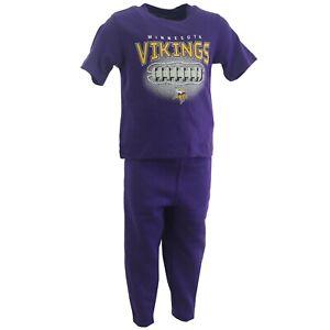 Minnesota Vikings NFL Baby Infant Toddler Size 3 Piece Shirts & Pants Set New