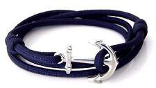Anchor Bracelet Nautical  Paracord Men Women Adjustable Vintage  Hand Made USA