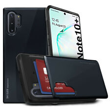 For Samsung Galaxy Note 10 Plus, Note 10 Case Card Wallet Hard Slide type Hybrid