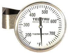 """Tel-Tru LT225R Ceramic Grill BBQ Smoker Thermometer 2"""" Dial w/ 5"""" Stem"""
