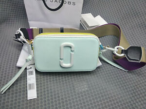 Marc Jacobs CERAMIC Snapshot Small Camera Bag Crossbody LIGHT BLUE MULTI sales
