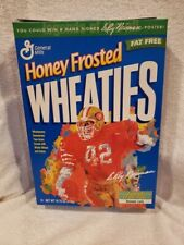 VINTAGE 1998 Ronnie Lott Leroy Nieman 12 Oz. Wheaties Box, San Francisco 49ers!!