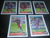 2015 Donruss FC Barcelona 5 Card Player Lot Pique Alves Iniesta Suarez Rodriguez
