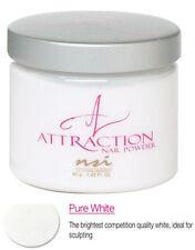 NSI Attraction Nail Powder Pure White - 40 g (1.42 Oz.) - N7468