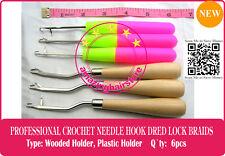6 Latch Crochet Hair Needle Hook Dreadlock Tools/Craft Dread Lock Hair Extension
