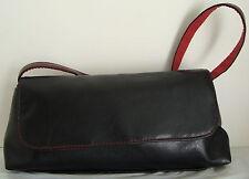 VICTORIA`S SECRET Small Black Handbag Red Inside Snap Close 1 Strap