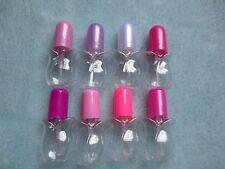 5ml mini plastic Empty nail polish bottle(12)rose style