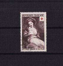 timbre France   croix rouge de 1953  num: 966  oblitéré