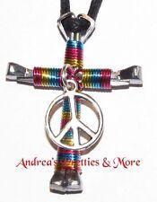 Disciples Cross Horseshoe Nail Necklace Peace