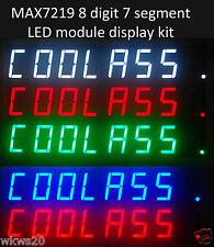 "MAX7219 8 Digit 0.56"" 7 segment LED Module kit arduino AVR numbers C. cathode"