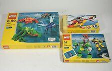 lotto 3 scatole Costruzioni Lego bricks n° 4101 / 4097 / 5866 elicottero set-0DS